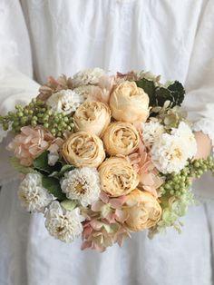 アンドフラワー(andflower) オールドローズのナチュラルブーケ