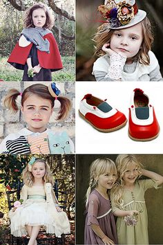 The latest issue of Babiekins Magazine is, in a word, 'beautiful': Little Red Riding Hood Cape and Fox Scarf  Mini Mat Hattery by Lisa  Blueberry Pie Hair Accessory by MilkFly  Adorable shoes for adorable feet by Livie and Luca  And finally…the prettiest dresses for the prettiest girls