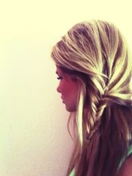 fishtail hair ... I used to do my sisters hair like this.  Now I cant wait for my little girl to have long hair so that I can style it...