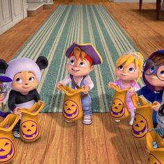 Happy Halloween from all of us! Halloween 2017, Happy Halloween, The Chipettes, Alvin And The Chipmunks, Trick Or Treat, Brittany, Awesome Stuff, Cake, Cartoons