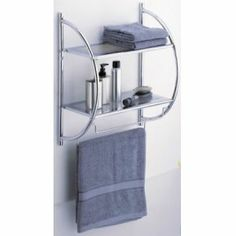 2 Tier Shelf Towel Bars Bathroom Wall Mount Shower Organizer Storage Holder Bar for sale online Chrome Bathroom Shelves, Bathroom Shelf Unit, Vanity Shelves, Bathroom Storage Shelves, Bathroom Organization, Bathroom Wall, Bathroom Ideas, Over The Toilet Cabinet, Small Bars For Home