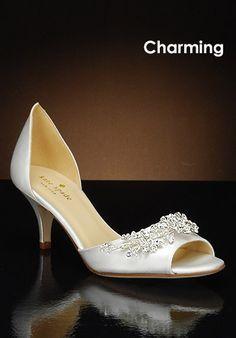 86b7be7bd32d3 Kate Spade low-heel shoes Wedding Shoes Bride