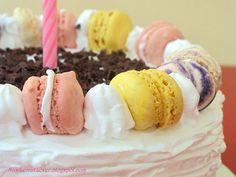 Cake and macaroons
