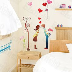 Fall in Love - Wall Decals Stickers Appliques Home Decor $8.89