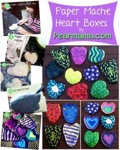 Paper Mache heart boxes | #BabyCenterBlog