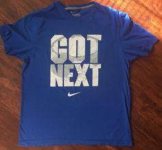 Nike Got Next Basketball Blue T-Shirt Sz XL 100% Cotton Standard Fit #Nike #GraphicTee