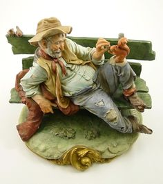 Vintage CAPO DI MONTE Tramp CAPODIMONTE PORCELAIN B. MERLI Figurine