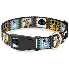 Buckle-Down Walle and Eve Pose/Face Hazard Blocks Gray/Yellow/Black Plastic Clip Collar ** You can get additional details at the image link. (This is an affiliate link and I receive a commission for the sales)