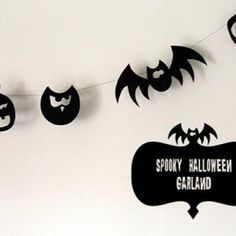 How to make Halloween Silhouette Garland {Decorating With Paper} found via #tipjunkie