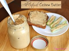 All Natural Cashew Butter recipe in the Vitamix! Delicious, creamy, and healthy :)