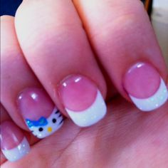 Hello Kitty nail art! for my gennavizzle....THAT's ME!!!