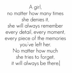 So true.. but really wish it wasn't. I would do anything to forget about my past relationship.. but I cant  :(