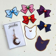 I am OBSESSED with this gorgeous charm and die cuts  The Luna and Artemis die cuts are gold foiled too!  Each guest at the @riversideplannergirls #sailormoon meetup received all of this from @amessofgoodies !     #riversideplannergirls #planner #planneraddict #plannercommunity #plannergirl #plannernerd #amessofgoodies