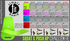 Simply fit board squat & push up challenge Simple Fit Board, Simply Fit Board Reviews, Weight Loss Motivation, Fitness Motivation, Fitness Tips, Health Fitness, Fitness Challenges, Fitness Journal, Fitness Exercises