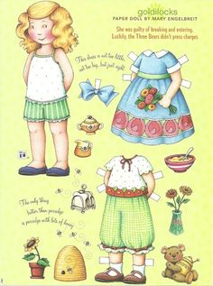 Goldilocks Mary Engelbreit Magazine Paper Dolls Guilty of Breaking Entering | eBay