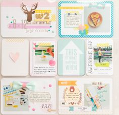 PL 2014 Week 2 by geekgalz at @Studio_Calico  She is probably my favorite scrapper of project life on SC! love the colors, her accent piece choices, and how she puts together layouts. definitely an inspiring creator