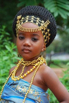Ghanaian princess in her traditional Kente wear.