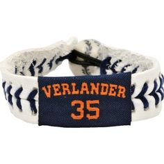 MLB Justin Verlander Authentic Jersey Bracelet by Gamewear, Inc.. $9.99. Show off your favorite team by wearing this stylish officially licensed MLB baseball bracelet from GameWear.  Each bracelet is made from genuine baseball leather and real baseball stitches and is boldly emblazoned with the team logo and colors.   Bracelets are one-size-fits-all and have a unique elastic baseball bead closure.  Available in multiple styles and players!