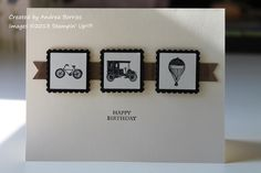 Simple masculine birthday by andib_75 - Cards and Paper Crafts at Splitcoaststampers