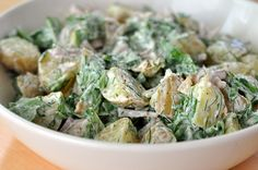 Potato Salad with Yogurt, Arugula, and Dill