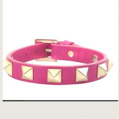 Valentino leather bracelet NEW✨ Pink leather Valentino Rockstud bracelet. 100% authentic. Made in Italy. Brand new never worn. Valentino Jewelry Bracelets