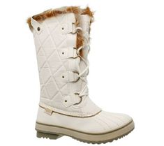 c04a78ee731f Smooth synthetic and ripstop parka fabric upper in a lace up mid calf  height waterproof cold weather boot with ...