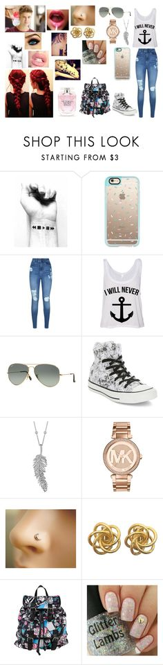 """""""Justin We Have To Go To The Recording Studio"""" by makayla-cowan on Polyvore featuring Casetify, Lipsy, Ray-Ban, Justin Bieber, Converse, Penny Preville, Michael Kors, Disney and Victoria's Secret"""