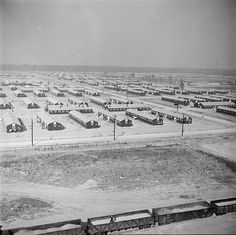 View of the War Relocation Authority camp, looking northwest from the hospital, near Jerome, Arkansas, 17 Nov 1942 (US National Archives) Dorothea Lange Photography, Pearl Harbor Attack, Japanese American, National Archives, Local History, Interesting History, World War Two, Vintage Images