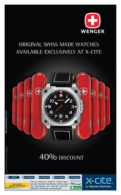 Wenger swiss watch now available in our showrooms and xcite.com