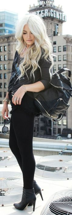 All Black Roof Top by Cara Loren