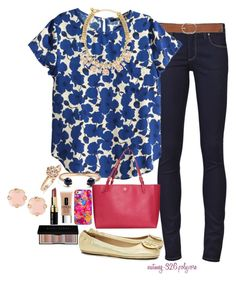 """""""It's My Sister's Birthday Today!!"""" by nutmeg-326 ❤ liked on Polyvore featuring Paige Denim, M&Co, H&M, Kate Spade, Kendra Scott, Tory Burch, Casetify, Clinique, Bobbi Brown Cosmetics and Panacea"""