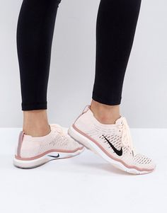 Nike Training Air Zoom Fearless Flyknit Trainer In Pale Pink