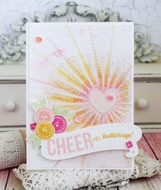 Cheer Up, Buttercup Card by Melissa Phillips for Papertrey Ink (July 2016)