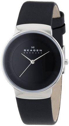 Skagen Damen-Armbanduhr XS Analog Quarz Leder SKW2059