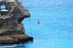 Nusa Ceningan island cliff jumping, pinned from Bali Je t'aime Villas - Google+