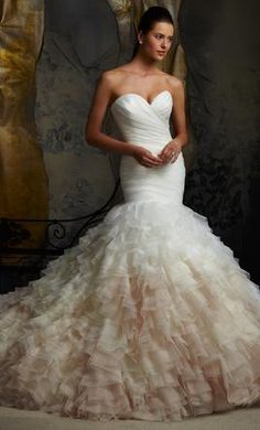 New With Tags Mori Lee Wedding Dress Blu by Mori Lee Style 5101, Size 4