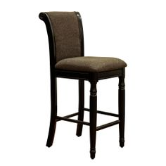 French Roast Chenille Fabric Upholstered Barstool   Overstock.com Shopping - The Best Deals on Bar Stools