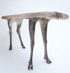 ORSON II - Armin Blasbichler Studio Stuffed deer, multi-layer plywood   L 141cm, W 44cm, H 76cm, 25kg