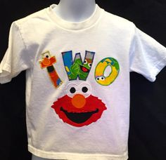 Handmade Sesame Street Elmo Personalized  Happy by JabbyCreations