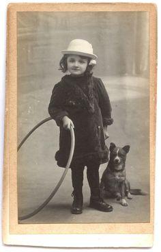 Girl and dog.