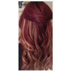 Dark Red With Blondee HighLightss