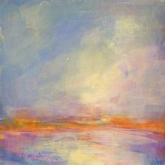 """Daily Paintworks - """"Daily Painting Lilac Sky"""" by Whitney Heavey Abstract Landscape, Abstract Art, Lilac Sky, Madrid, Daily Painters, Sky Art, Art Journal Inspiration, Fine Art Gallery, Cool Art"""