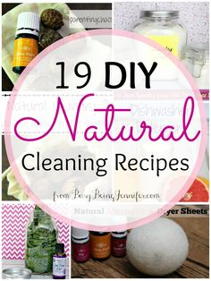 Are you a fan of natural or organic cleaning options for your home and cleaning needs? We're sharing 19 awesome DIY natural cleaning recipes. #TriplePFeature