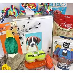 Deluxe Dog Gift Box Basket With Grain Free Gluten Free Treats and Premium Toys For A Favorite Canine Fur Baby Perfect for Dog Lover Dog Birthday Dog Christmas Gift Dog Gift For a Furry Pet Friend -- If you want to know more, click on the image. (This is an affiliate link and I receive a commission for the sales)