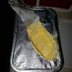 How not to open butter!