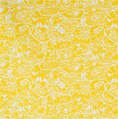 Mitt Zoo Yellow fabric by Boras Sweden now at www.theswedishfabriccompany.com