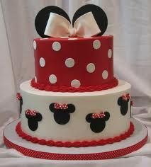 Love this Cake, but mickey with a birthday hat instead of Minnie's bows!