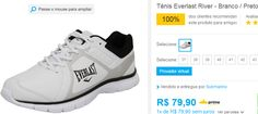 Tênis Everlast River - Branco / Preto << R$ 7990 >>