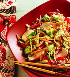 Recipe: Asian Noodle Salad Summary: A simple Asian Noodle Salad, with a quick dressing, is full of flavor and takes only 20 minutes to prepare. Ingredients 1 package Knorr Sides Plus Veggies – Teriyaki Noodles with Asian Style Vegetables 1/4 cup rice wine vinegar 1 tablespoon Skippy Natural Creamy Peanut Butter Spread 1 teaspoon vegetable …