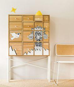 Meuble IKEA relooké par Maja Sten